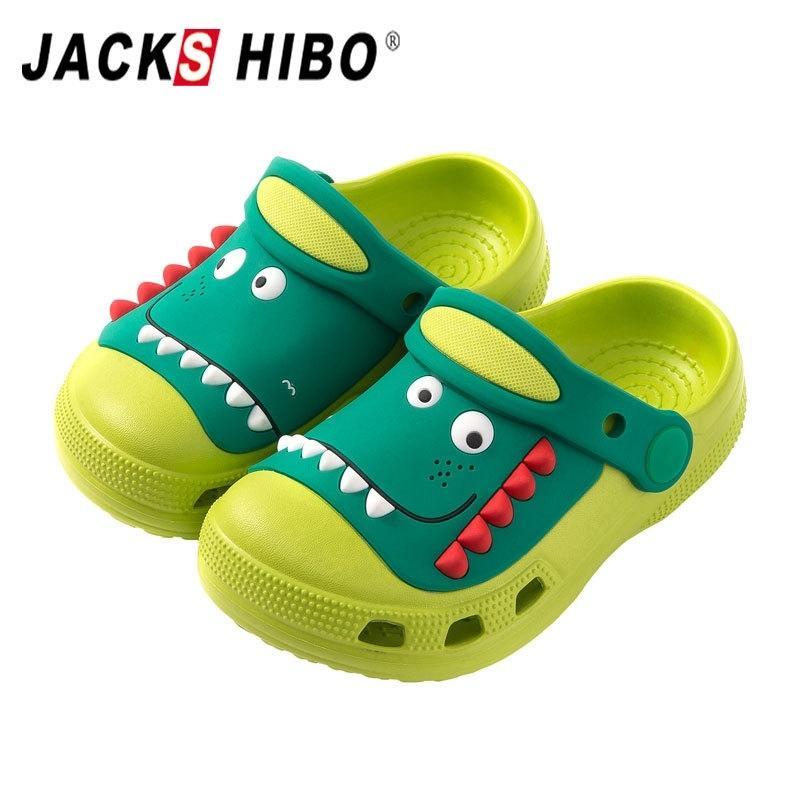 Jackshibo Boys Girls Cloges Toddler Little Kids Slipper Dessin animé Dinosaures Jardin Jardin Plage Chaussures d'eau Slip sur des sandales légères Y200520