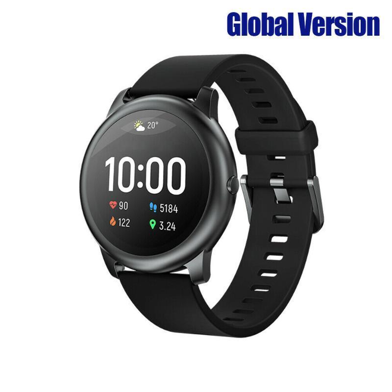 Haylou-Solar LS05 Smart Watch Watch Bluetooth 5.0 12 Modes de Sports Gestion du sommeil App IP68 Imperméable Taux Taux Surveillance Coeur # W