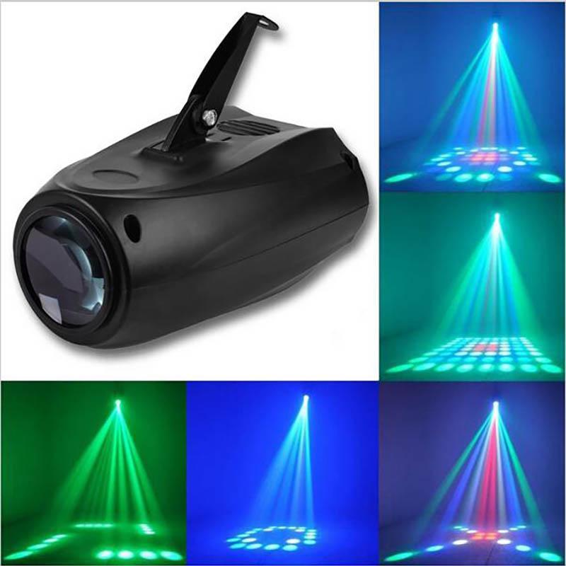 LED التحكم في الصوت ضوء المرحلة أضواء الليزر العارض المنشط للسيارات فلاش 10W نادي RGBW ديسكو حزب ضوء Cristmas ديكورات