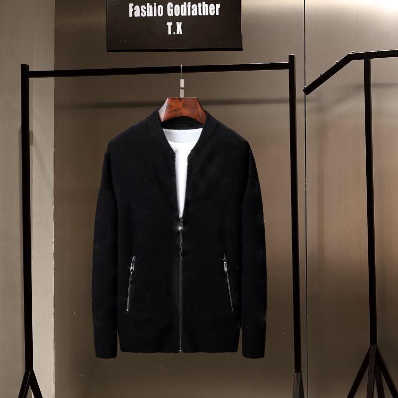 2020 جديد أزياء الرجال الشتاء التطريز البلوزات س الرقبة طويلة الأكمام محبوك sweatercoat المستوردة الملابس زائد الحجم m- 3xl