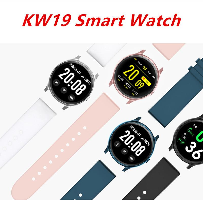 KW19 Smart Watch Waterproof Blood Pressure Heart Rate Monitor Fitness Tracker Sport Intelligent Wristbands For Andriod Ios with Retail Box