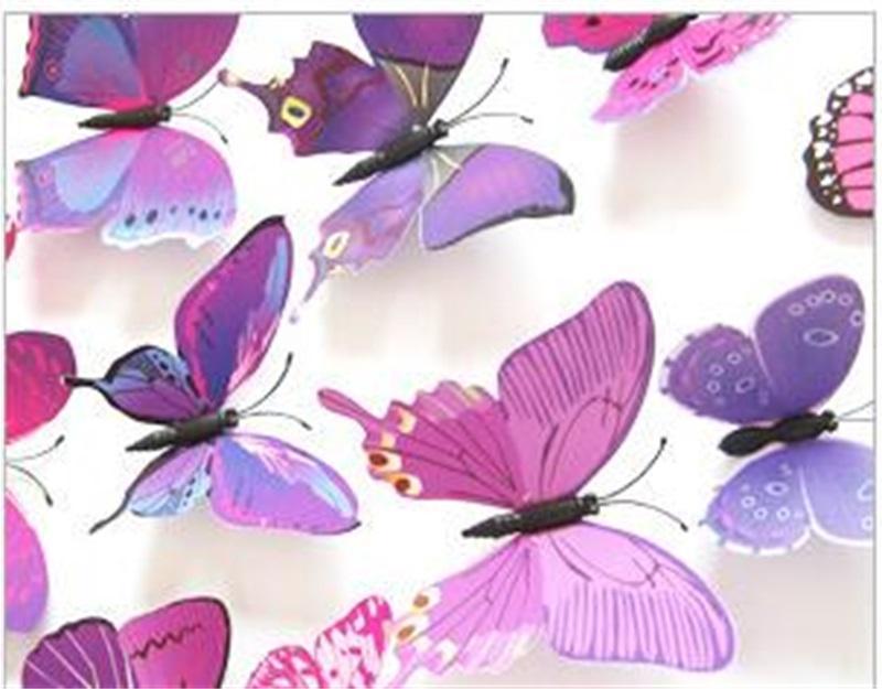 Butterfly Simulación Frigorífico Imán 3D Animal Color Color PTVC Etiqueta Etiqueta de Pared Cabello Keds Accesorios Accesorios Venta Caliente Broche 1 6DJ M2