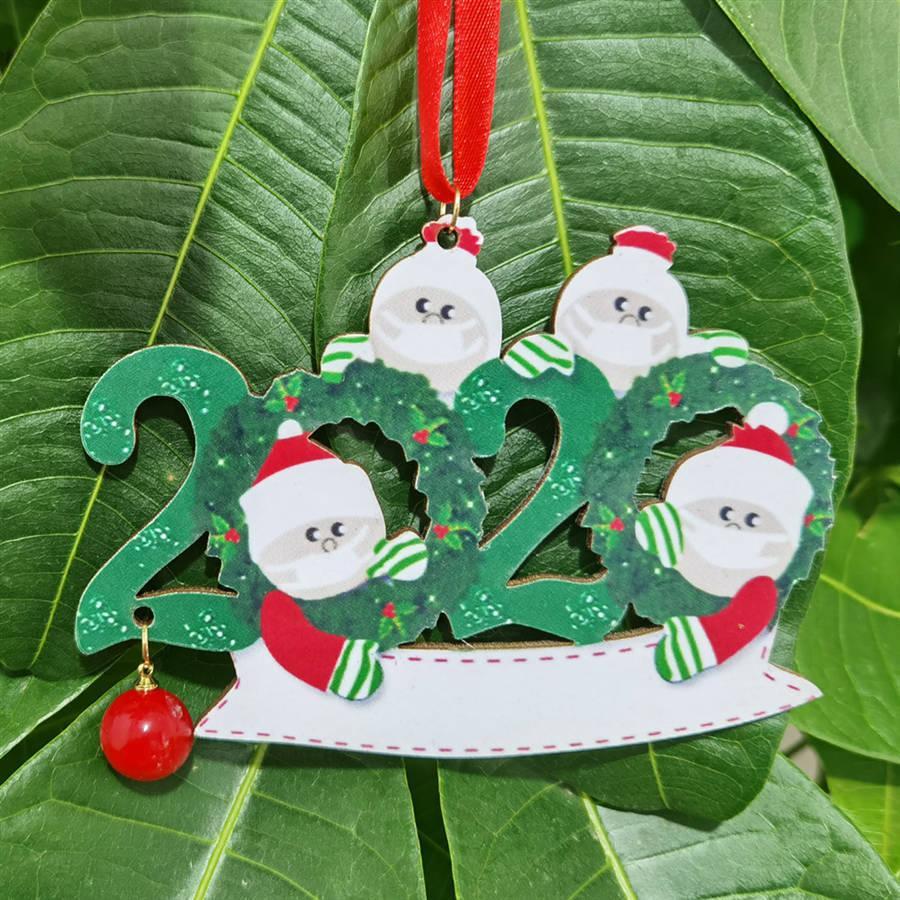 Árbol de Navidad fuera de la Florida 2020 familia de 2 3 4 5 Santa Claus de Navidad del partido de bricolaje colgante Nombre Bendición del ornamento Decoración