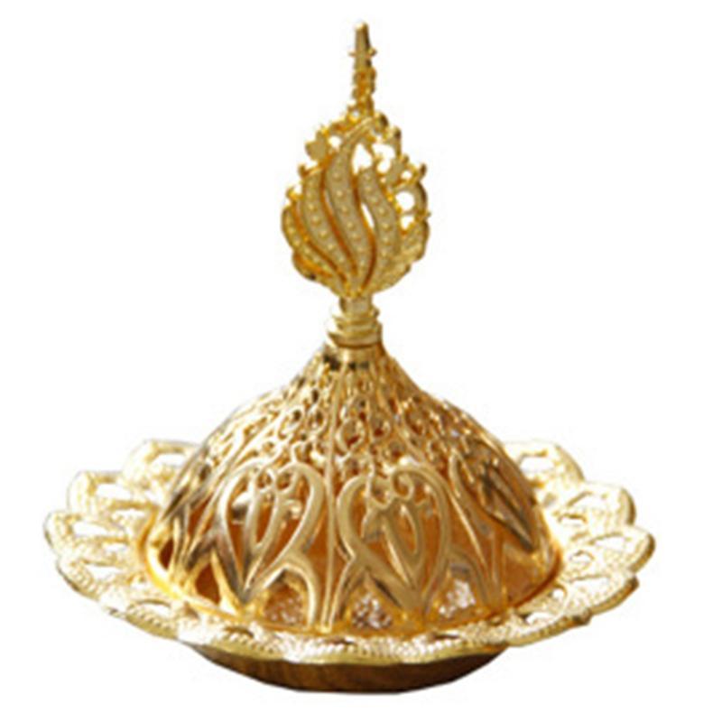 Bestmetal Tütsü Burner Hollow Altın Kule Yağı Brülör Arap Tarzı Censer Tutucu Ev Otel için