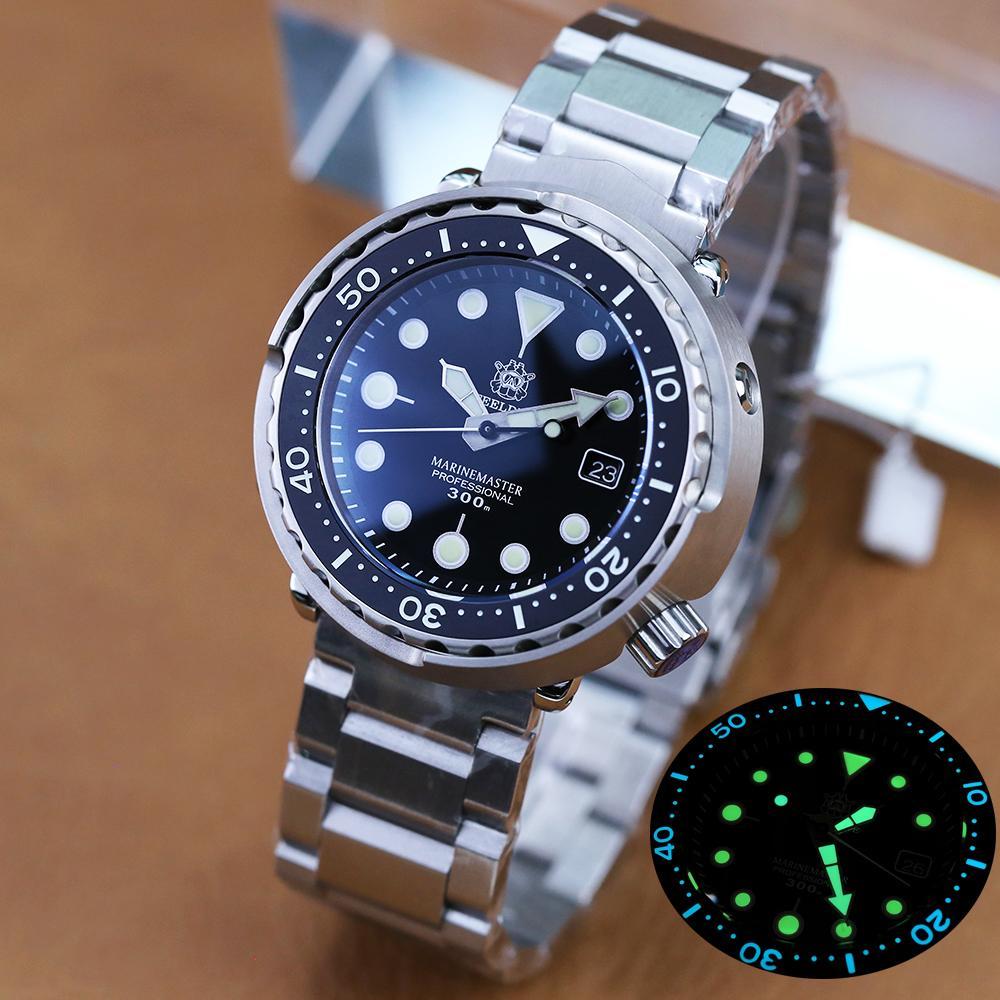Steeldive 1975 tonno 300m orologio da immersione con acciaio automatico in acciaio inox in acciaio inox bezel NH35 orologi da polso da uomo orologi meccanici moda moda