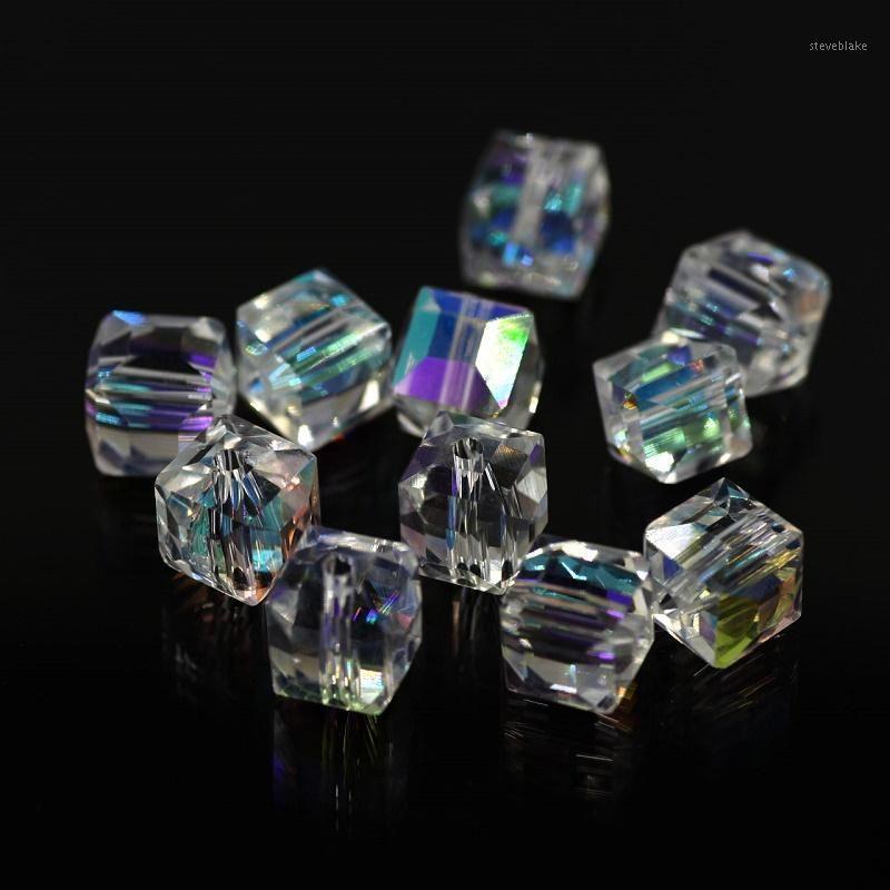 Gorras de cuentas Venta al por mayor-Crystal Bicone Beads 4mm (115 / lote) Cristal suelto checo Cristal Facetado de cristal para bricolaje Pendientes de joyería Collar Brazalets1