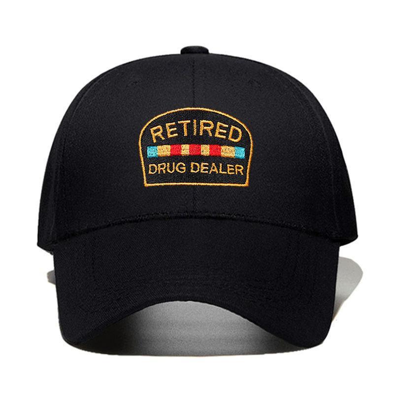 Cappello del rivenditore di droga in pensione cappello da padre cappello da baseball berretto da baseball stile basso profilo golf cappello cappelli da uomo uomo snapback hip hop garros dropshippix1016