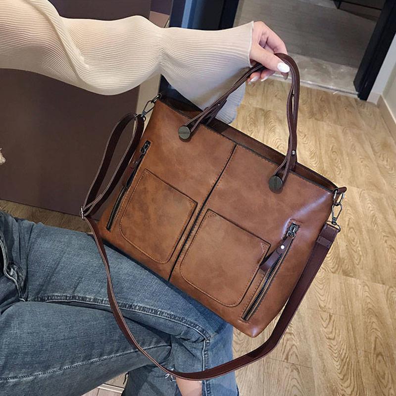 Bolsa de ombro bolso retro senhora mensageiro bolsas mulheres três couro feminino luxo bolsas de moda casual oqfwe
