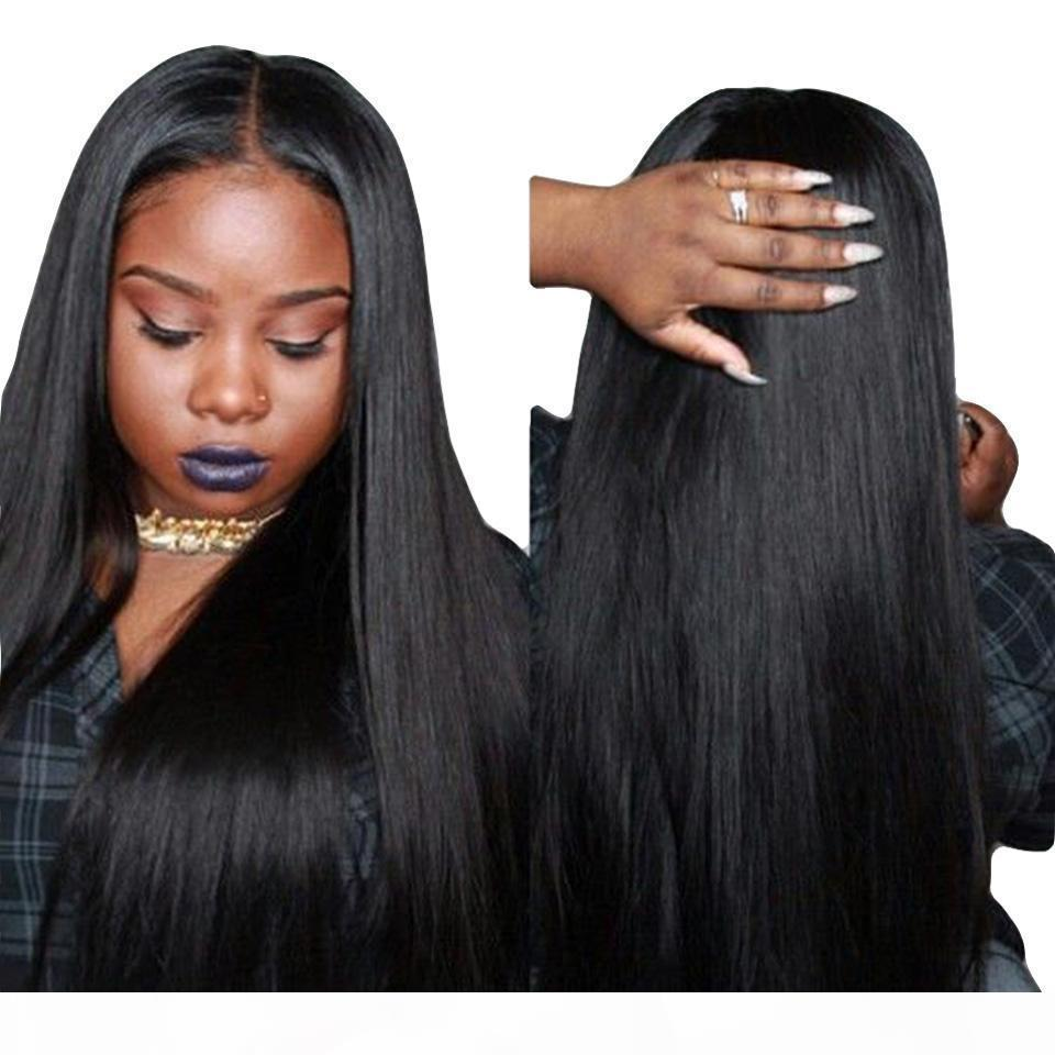 Lace 360 completa umano parrucche per le donne peruviane Remy lungo rettilineo dei capelli Pre pizzico parte libera di Glueless Lace Front 360 parrucca capelli umani