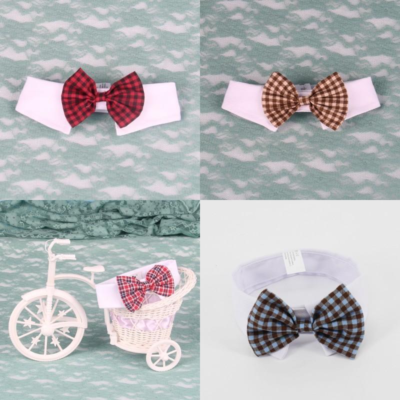 Личность бабочка галстука милая решетка мода регулируемая шоу галстук поставки домашних животных щенок со свинцом колье аксессуары 4ga k2