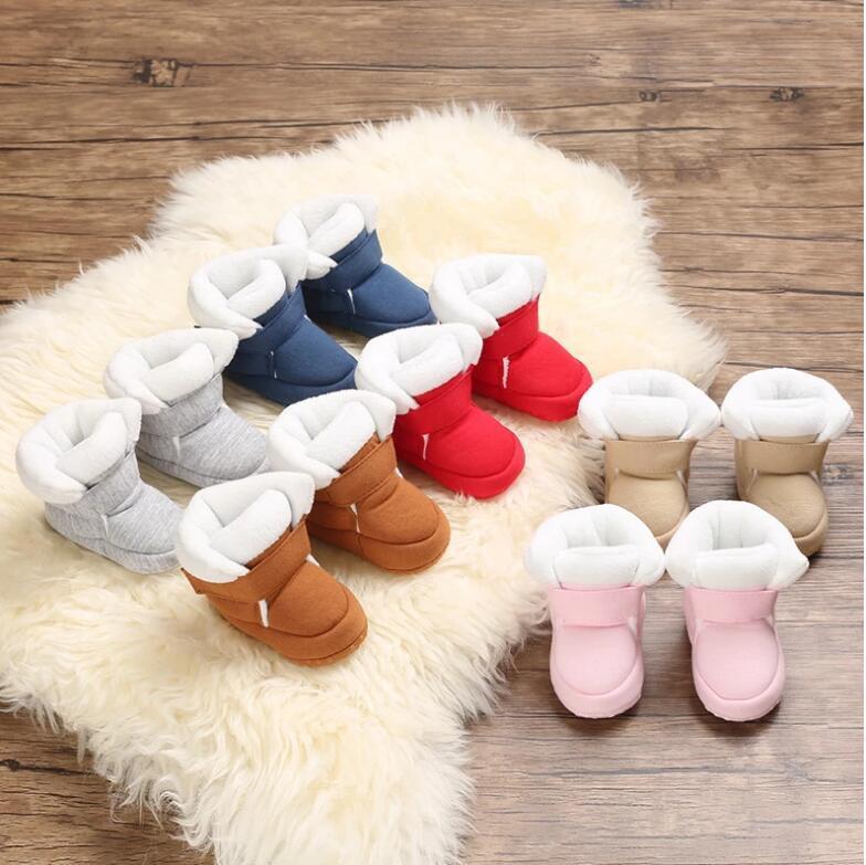 Baby Newborn Theddler Обувь Первые Уокеры Унисекс Cozie Faux Fleece Bootie Зима Теплый Младенческий Малыш Кроватки Классический Пол