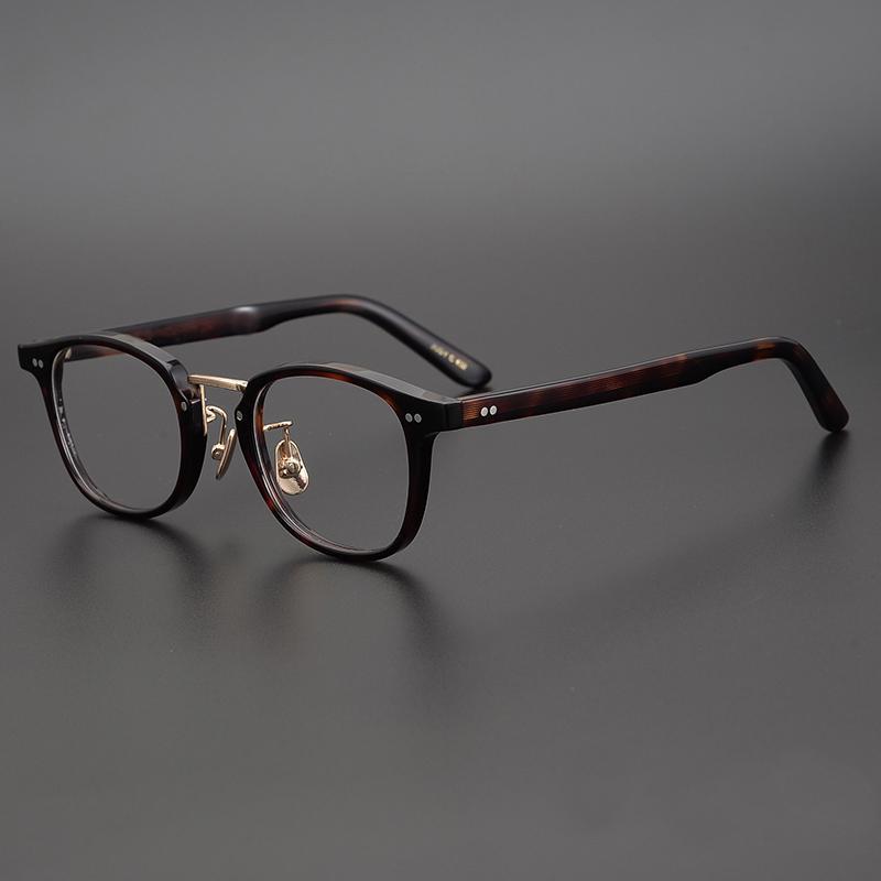 يدوية الصنع خلات ساحة صفة طبية نظارات المرأة خمر النظارات البصرية الإطار الرجال ريترو اليابانية العلامة التجارية قصر النظر نظارات