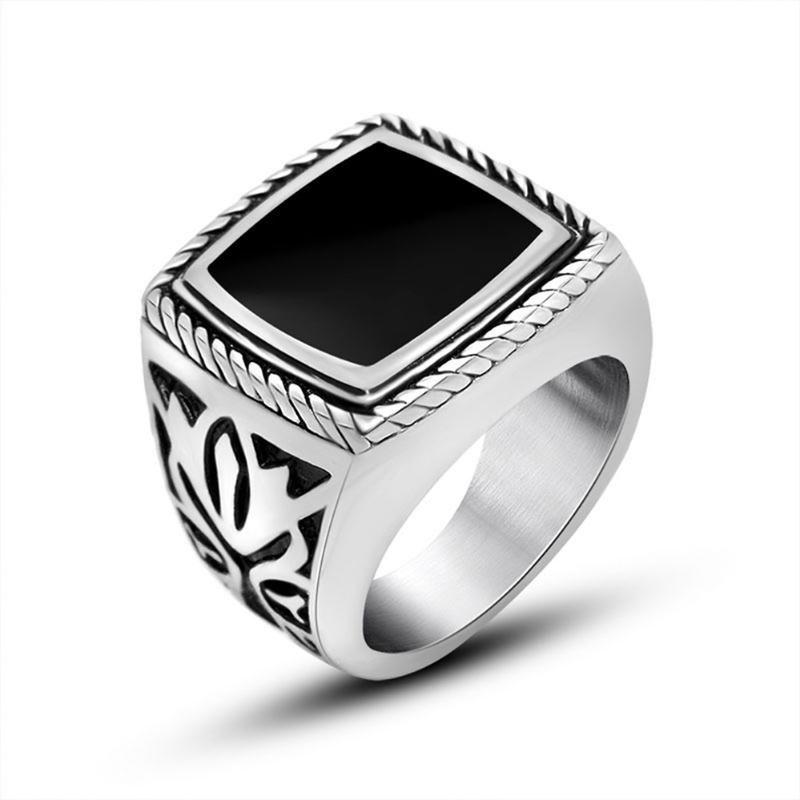 Крутые мужские кольца из нержавеющей стали 18 мм Широкие эпоксидные могины мужчины мода готические ювелирные аксессуары подарки для него кольцо пальцев