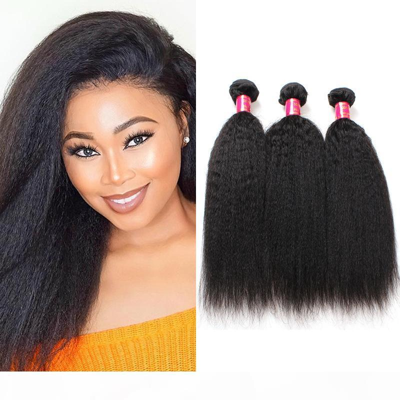 8A Péruvien Vierge Cheveux 3 Bundles Afro Kinky Droite Human Hair Extensions Thanfital Italien Yaki Yaki Bundles droite Crochet Hair Weave