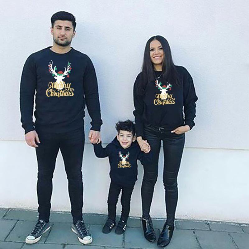 Noel Tişörtü Annem ve Ben Eşleştirme Giyim anne kızı Baba Oğul Anne Erkekler Kızlar Aile Kıyafetler Look Tops