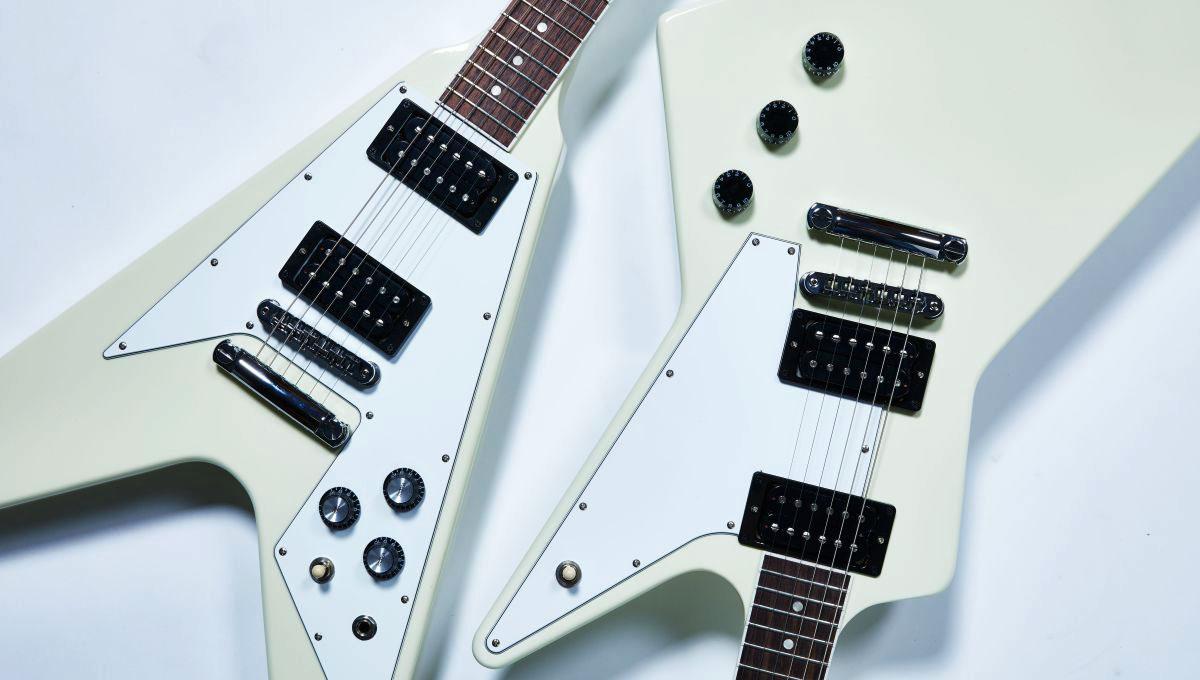 качество электрогитары пользовательских 70s V Летучие / исследователь гитара