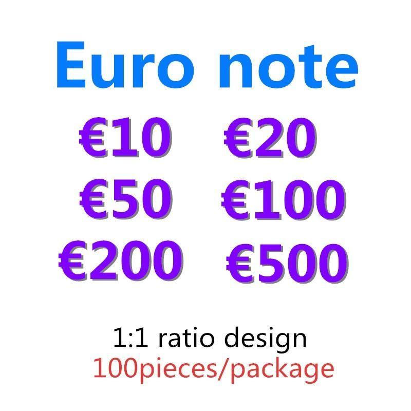 Euro Juguete Regalos Festivo Money Billet Faux Copy 10 Prop 50 100 200 500 20 Colecciones Party Games Token Money Kids Fake 06 Uuhtf