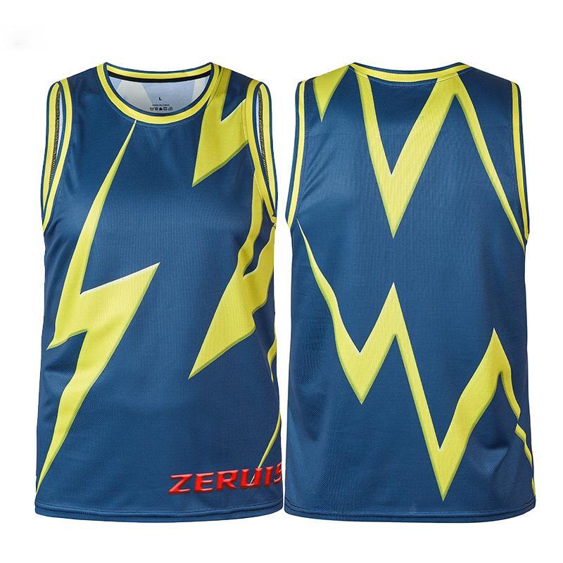 Été Hommes Jogging Basket manches Chemises Homme Salles de sport Fitness culturisme sport Mesh 3D Gilet Imprimer Débardeurs