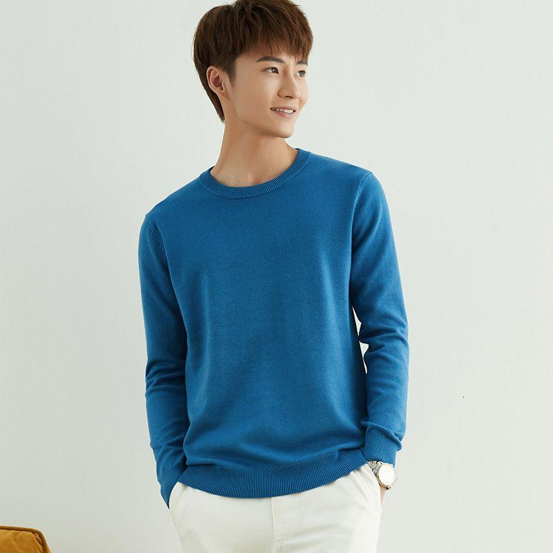 Nuevo suéter de cachemira para camiseta de hombre con base redonda en otoño e invierno de 20