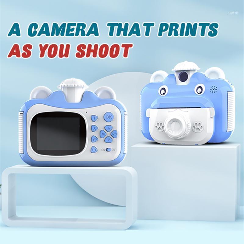 Детская камера Мгновенная печать камеры для детей1080P HD сенсорный экран 2400W игрушки 2.4 дюйма IPS видео для подарка на день рождения1