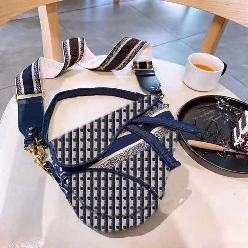 Houndstooth Saddle Bags Messenger Bags Alta Qualidade Saco de Ombro Mulheres Boutique Saddle Saco Saco de Shopping Carteira Moda Mulheres Classic Sacos