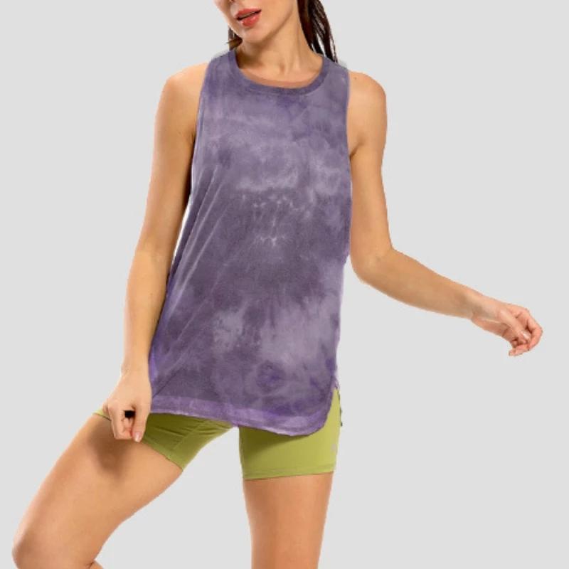 Roupas de Yoga Tie Racerback Tanque Solto Activewear Running Workouts Roupas Tops Alongamento Blusa Ginásio Sem Mangas Camisas