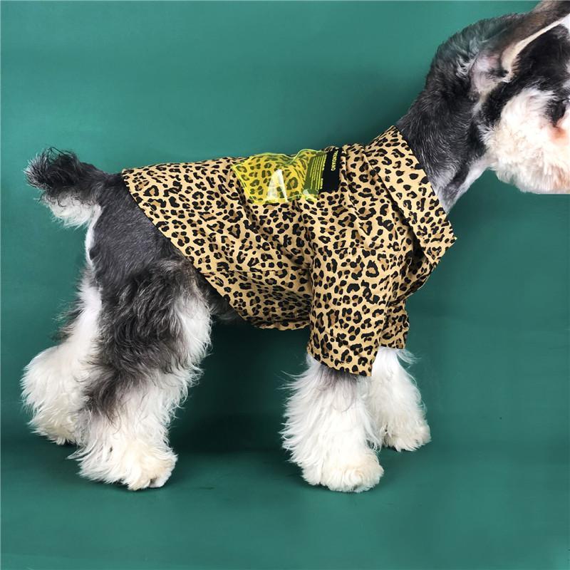 Модный леопард с принтом для собак на открытом воздухе Спорт для собак Толстовка для собак Весна ПЭТ одежда Тедди Шнауцер PUG POMERANIAN CAT щенка щенка