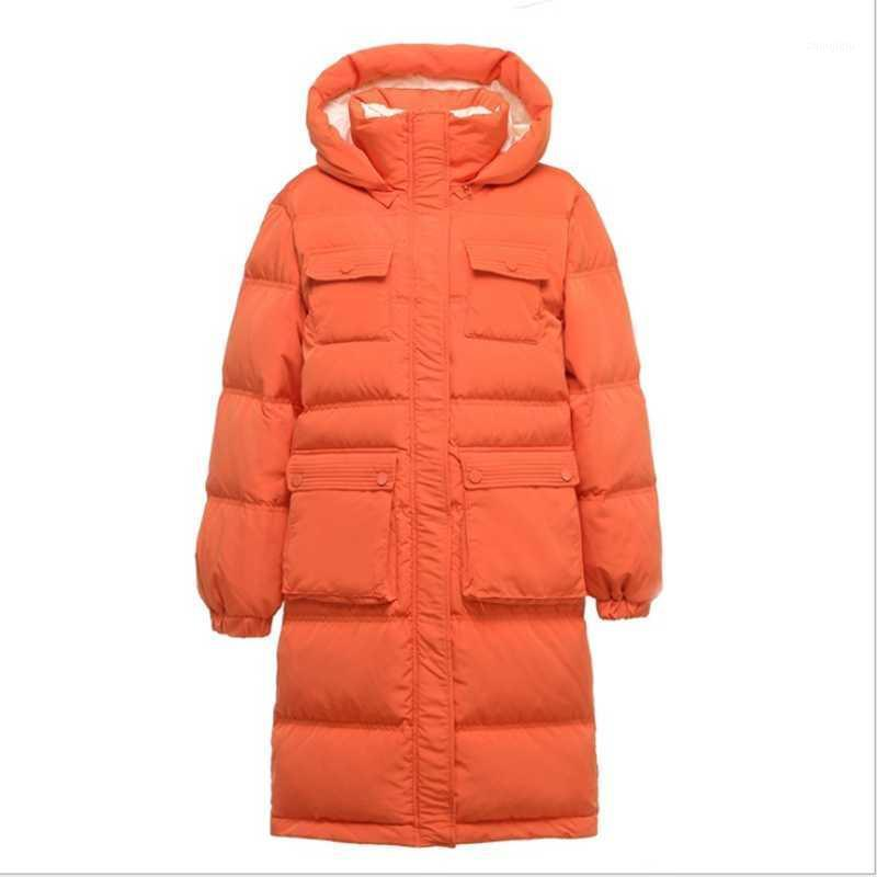 Inverno Nuova versione coreana sciolta della grassa sorella sorella sottile con cappuccio extra large grande giacca da donna casual ispessimento1
