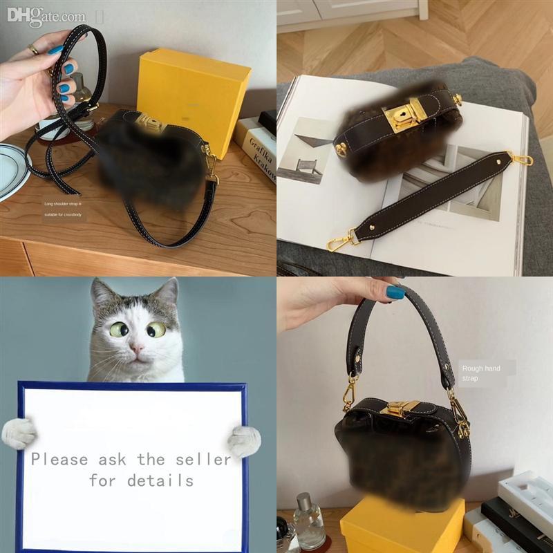 HDRVH Avocado Color Bag Designer Taschen Taschen Frauen Brief Echte Schultermode mit echten Schloss Gestempelte Dame Cowskin Totes Luxus Handtasche