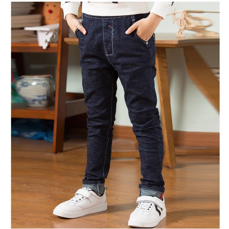 Printemps automne enfants jean pantalons adolescents pantalons en denim décontracté lettre coton crayon pantalon jambgings garçon jeans sombre 201209