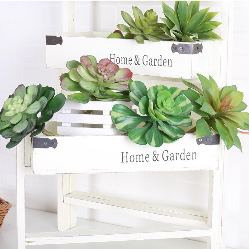 Plantas de suculentas artificiais plantas tropicais plástico suculento plástico plástico suculento flor lótus para jardim casa escritório paisagem decoração