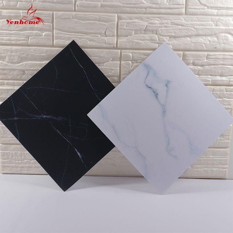 Nordic Vinyl Autoadesivo autoadesivo marmo trama decalcomanie murali spessore bagno impermeabile cucina pavimenti piastrelle adesivi per la casa decorazione domestica 30x30 cm 201202