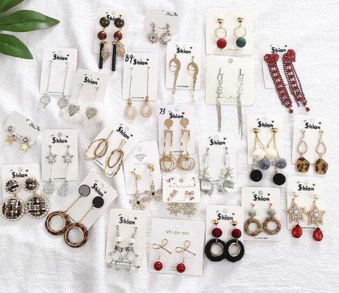 10 Pairs / lot Mish Style Colors Dangle Chandelier Orecchini di modo per fai da te regalo Artigianato gioielli orecchini EA9017 Shipp gratis