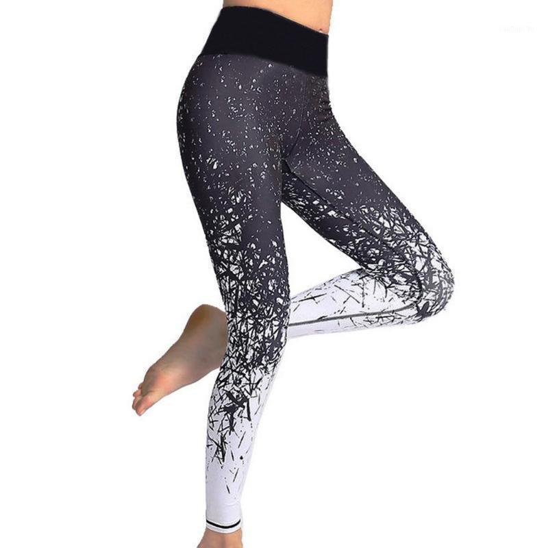 Nahtlose Bauchsteuerung Yoga Hosen Stretchy hohe Taille Workout Drucksporthosen Strumpfhosen Sport Push Up Laufen Feb111