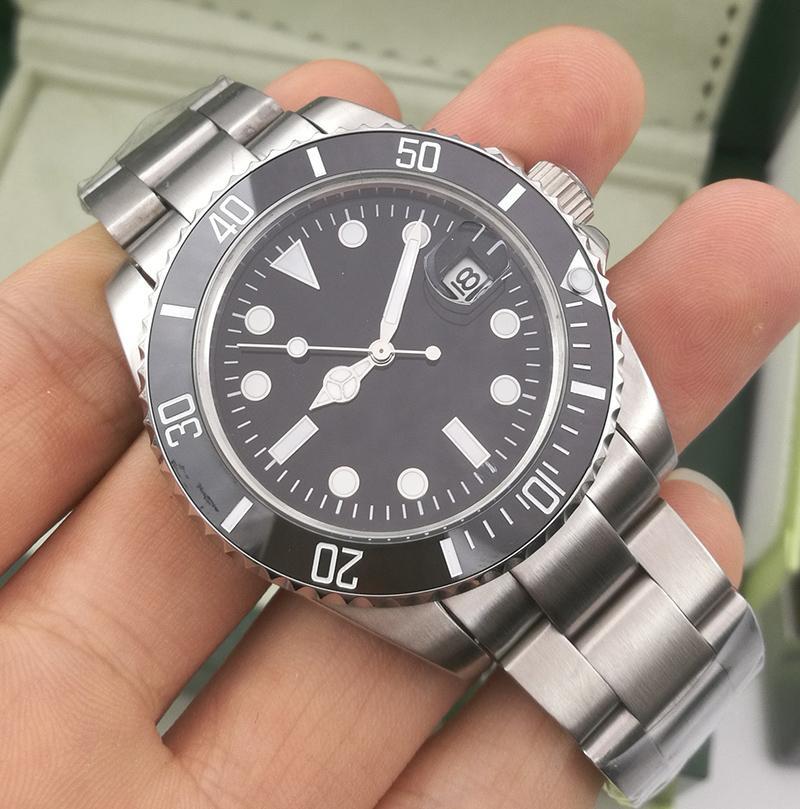 럭셔리 패션 세라믹 블랙 베젤 새로운 망 기계식 SS 2813 자동 운동 시계 스포츠 남자 디자이너 시계 손목 시계