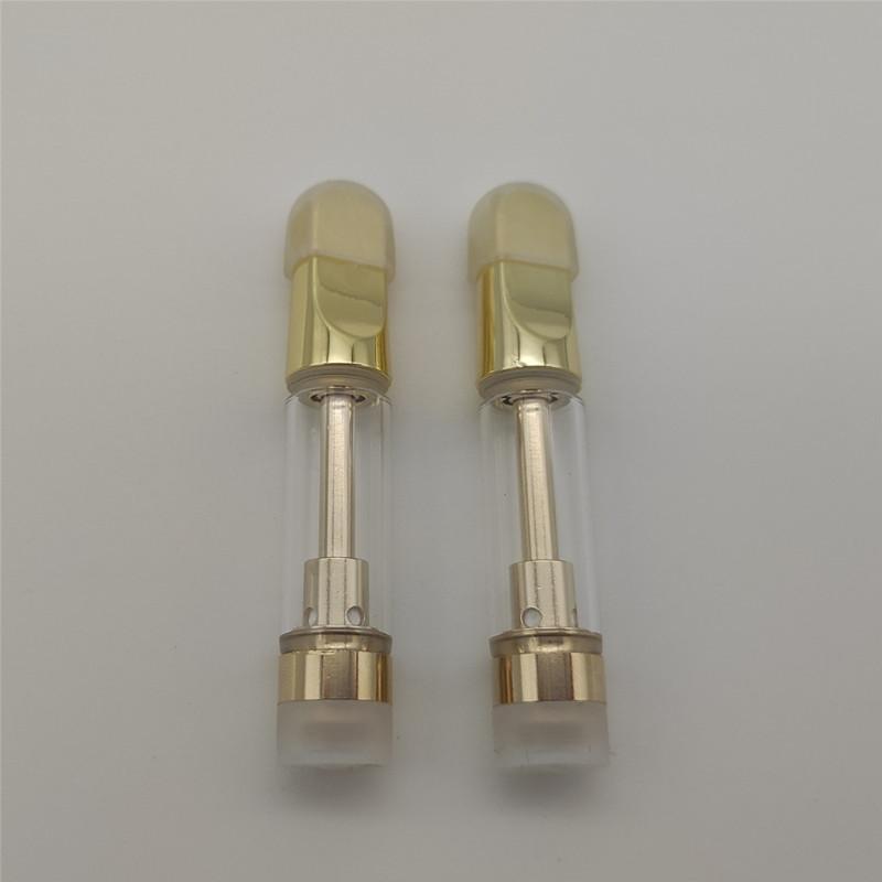 510 분무기 세라믹 코일 골드 vape 카트리지 pyrex 유리 장바구니 2.0mm 두꺼운 오일 기화기 금속 팁