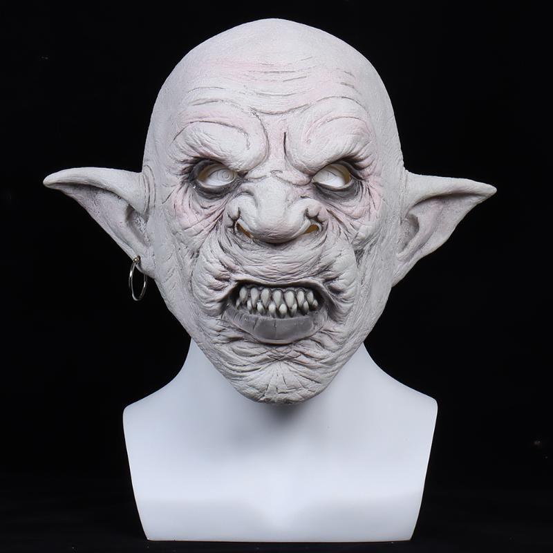 파티 마스크 악마 마스크 Goblin 공포 할로윈 의상 마스 케 빌스 마스카라스 악마 애니메이션 마스카라스 임프 라텍스 헬멧 방울