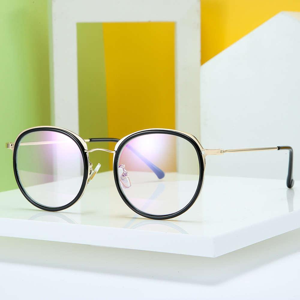 16044 Round Diopterless Screen Branco 2020 Nova Moda Flat Lens Men's Glasse