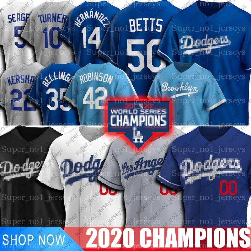 Dodgers Mookie Betts Jersey de Los Ángeles Cody Bellinger Enrique Hernández jerseys Corey Seager Clayton Kershaw Jackie Robinson Turner jerseys
