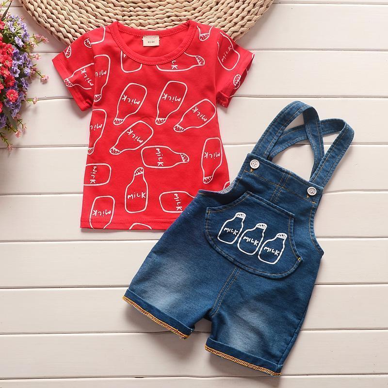 Baby Boys verão roupas sets toddler tops dos desenhos animados t-shirt t-shirt calça 2 pcs terno meninos roupas para faixas de bebê 20211