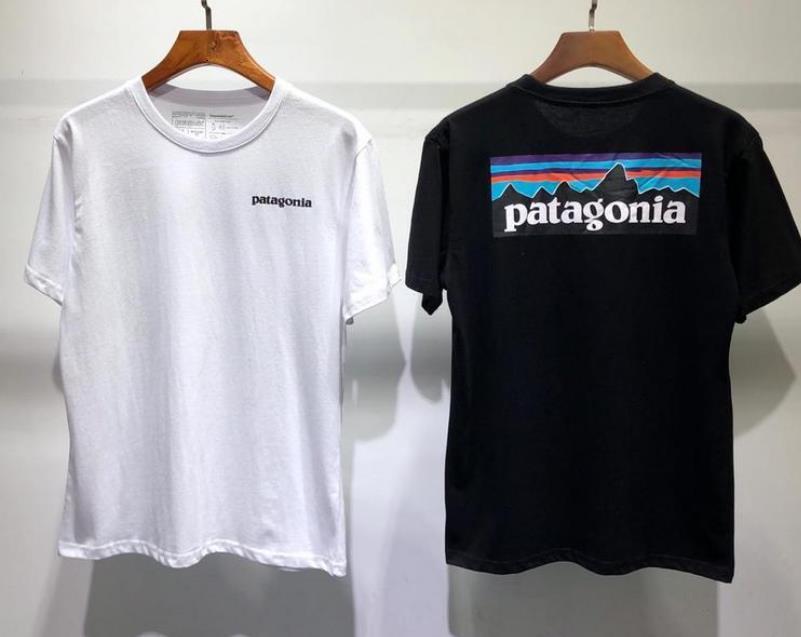 Camiseta de verano camiseta de manga corta hombres mujeres amantes moda hombres mujeres camisetas patagonia