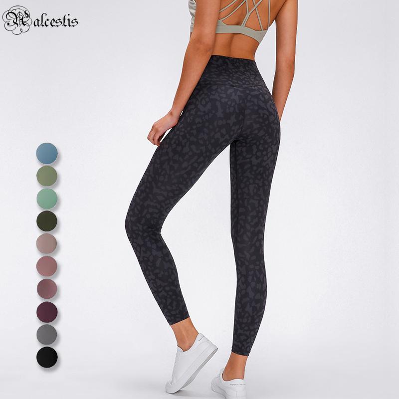 Mulheres de cintura alta ioga calças esportes ginásio calça fitness solto correndo leggings cor sólida calças longas casuais
