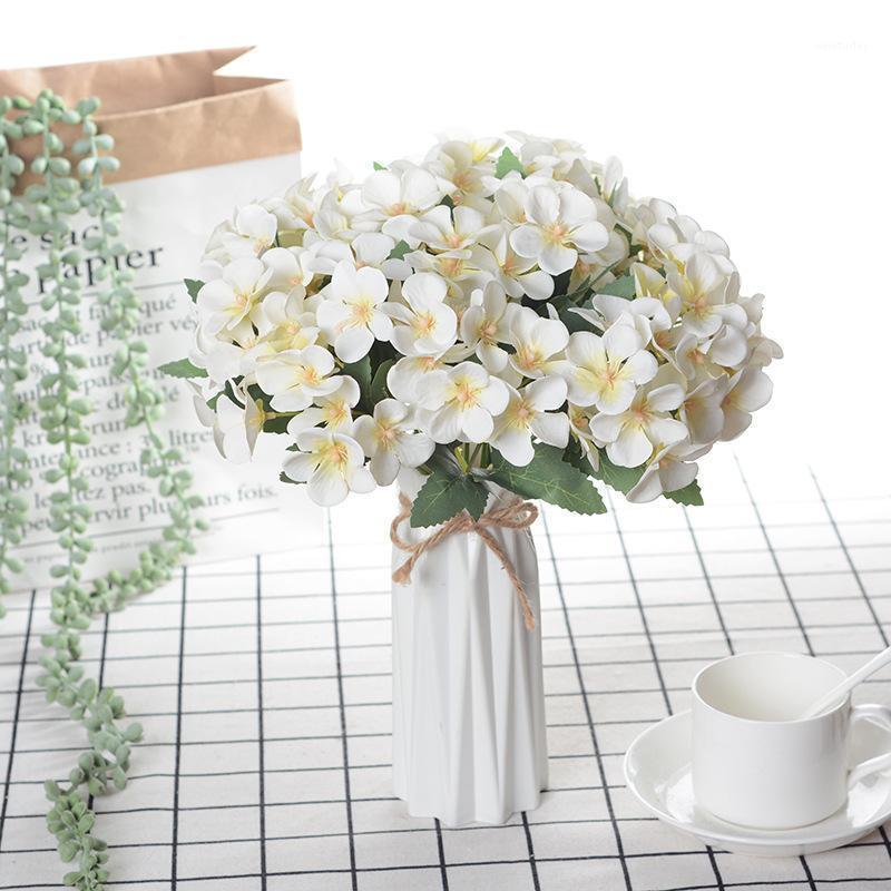 1 قطع 5 شوك الوردي الحرير بيجونيا الزهور الاصطناعي الزهور المنزل الديكور الزفاف وهمية زهرة اصطناعية طويلة 25CM1