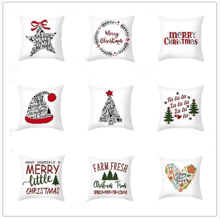 45 * 45cm di Natale del fiocco di neve federa federe Capodanno decorazione santa Casa Divano cuscino della cassa forniture di natale cuscino Partito coperchio WY886w