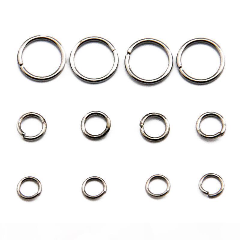 Tutte le dimensioni Acciaio inossidabile Acciaio inossidabile Anello Gioielli Trovare Brass Open Jump anelli di salto Componenti 100G Bag JR06