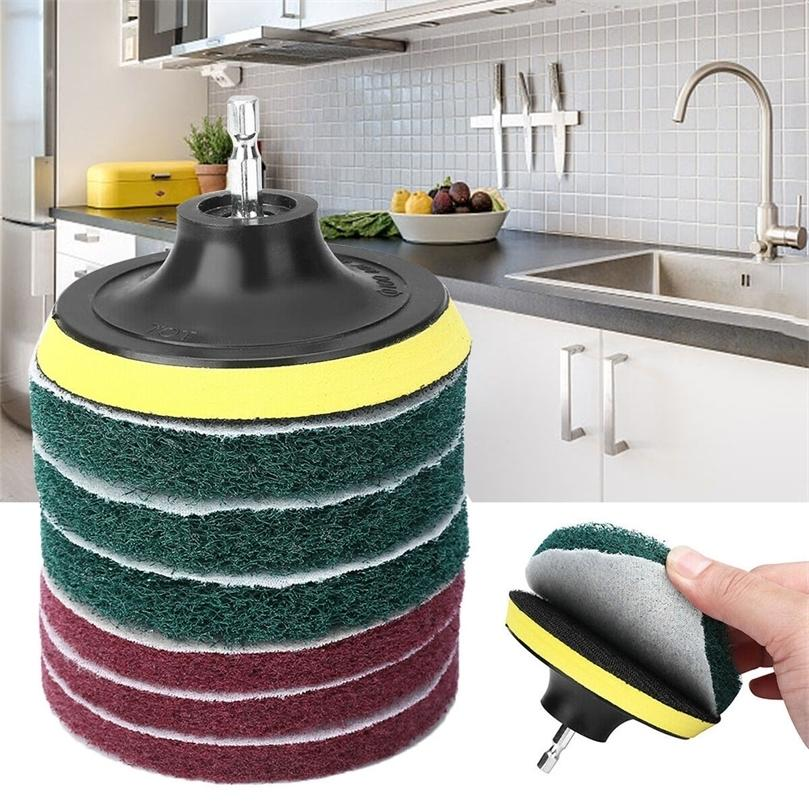 8 pçs / set escova de broca elétrica Scrub Pads grout poder brocas de limpeza de limpeza de limpeza ferramentas de limpeza kit Dusty escova 201214
