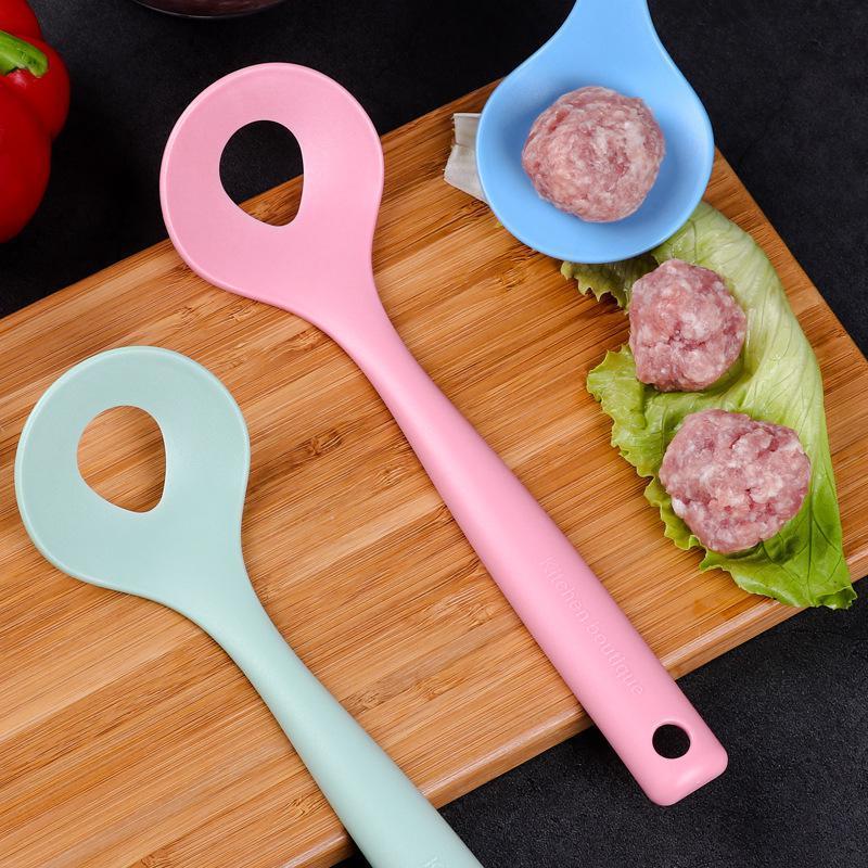 Treative Meatball Maker Ложка Мясо Баллер Эллиптическое отверстие для утечки Мясной шар плесень мяса Экструзия инструмент Кухня Утвари Гаджет AHD3867
