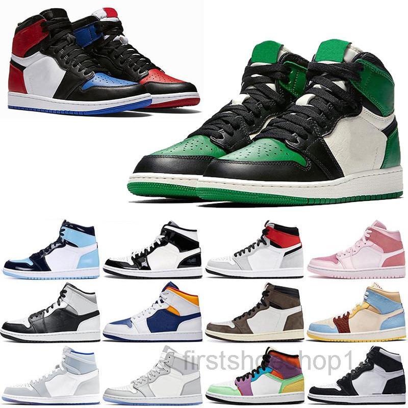 2020 Yeni Varış Jumpman 1 1 S Yüksek Siyah Toe Satış için Değil Erkekler Kadınlar Basketbollar Ayakkabı Obsidiyen UNC Siyah Beyaz Erkek Kadın Sneakers Ask6