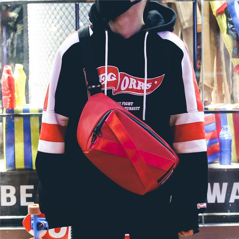 Göğüs Erkekler Ins Süper Yangın Moda Marka Kore Trambolin Spor Çantası Büyük Kapasiteli Sokak Aşıklar Bir Omuz Messenger C1111