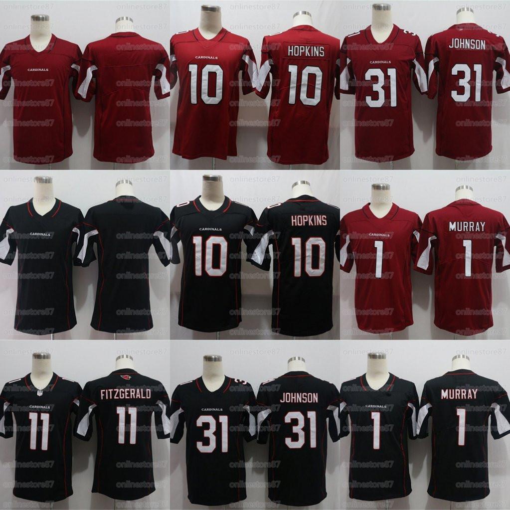 20-21 stagione Uomo 10 HOPKINS 31 JOHNSON 11 FITZGERALD 1 MURRAY calcio maglie Personalizza qualsiasi numero e il nome